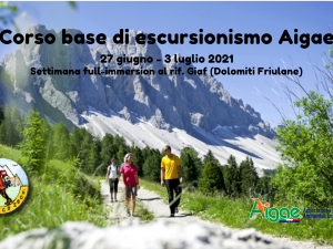 Corso Base Escursionismo Aigae – Dolomiti Friulane