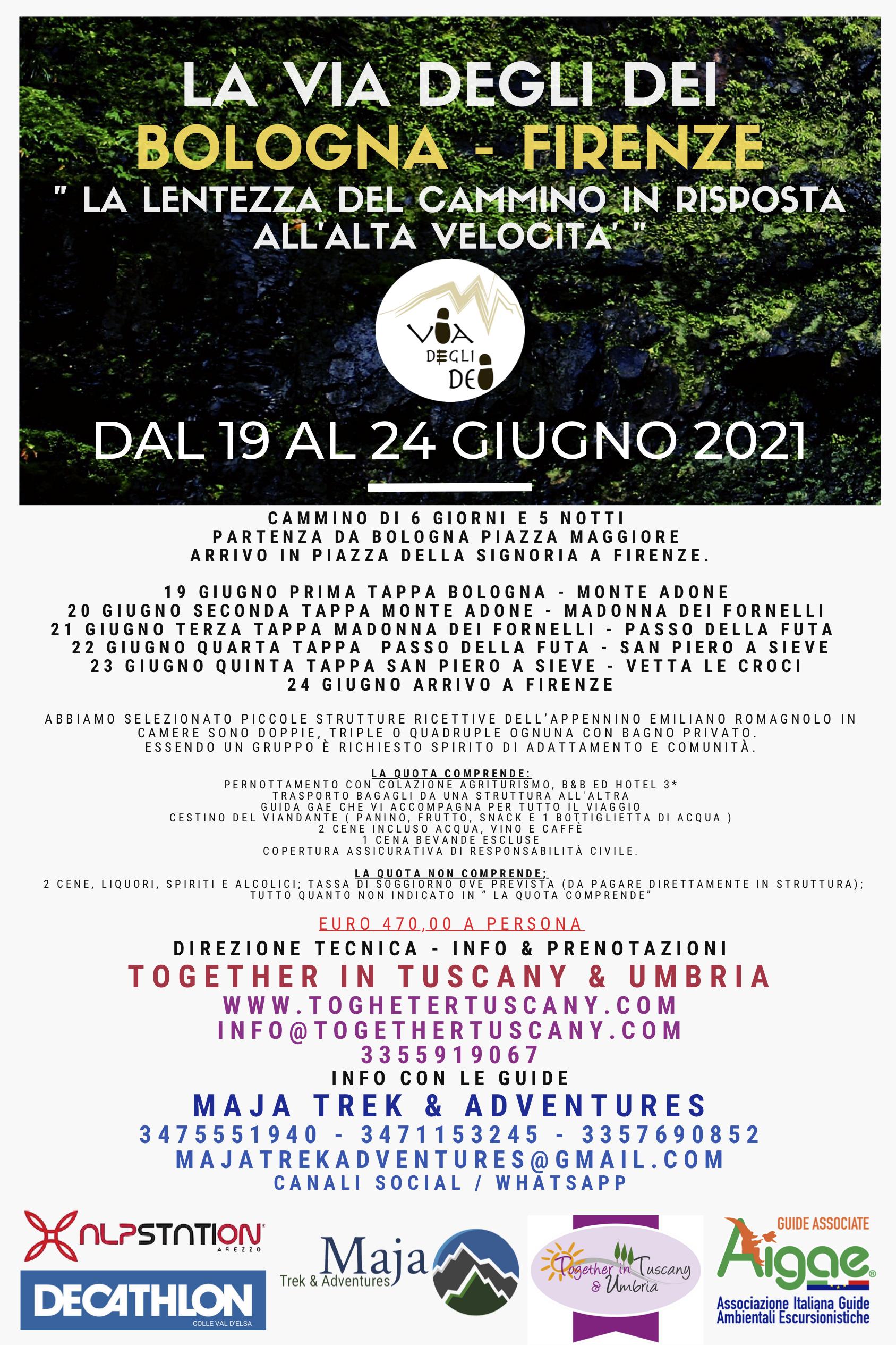 Via Degli Dei 2021 Bologna Firenze Dal 19 Al 24 Giugno 2021 La Lentezza Del Cammino In Risposta All Alta Velocita Escursionismo It